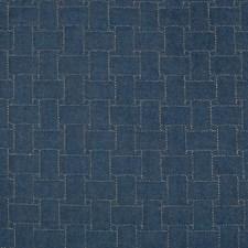 Blue Lattice Decorator Fabric by Lee Jofa