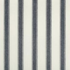 Navy Stripes Decorator Fabric by Lee Jofa