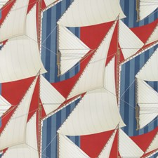 Red/Blue Novelty Decorator Fabric by Lee Jofa