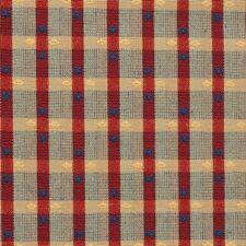 Burgundy/Red Plaid Decorator Fabric by Kravet