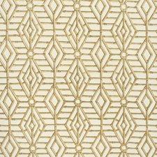 Beige/White Lattice Decorator Fabric by Lee Jofa
