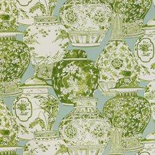 Mist/Jade Chinoiserie Decorator Fabric by Lee Jofa