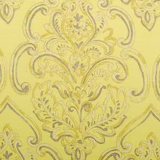Yellow Damask Decorator Fabric by Duralee
