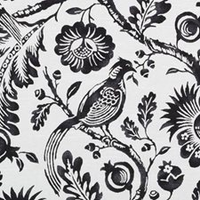 Black/White Birds Decorator Fabric by Duralee
