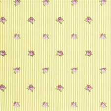 Yellow/Purple/Green Botanical Decorator Fabric by Kravet