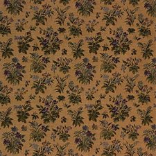 Purple/Beige Botanical Decorator Fabric by Kravet