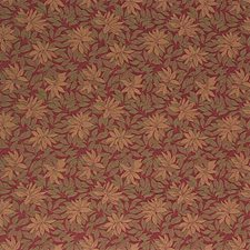 Burgundy/Red/Yellow Botanical Decorator Fabric by Kravet
