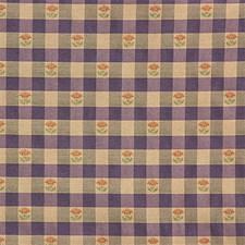 Purple/Beige/Rust Plaid Decorator Fabric by Kravet