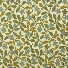 Aqua Botanical Decorator Fabric by Kravet