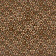 Green/Burgundy/Red Bargellos Decorator Fabric by Kravet