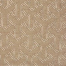 Straw Geometric Decorator Fabric by Groundworks