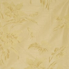 Gold Floral Decorator Fabric by Fabricut
