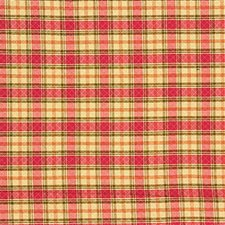 Beige/Pink/Green Plaid Decorator Fabric by Kravet