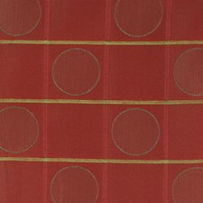 Red Geometric Decorator Fabric by Fabricut