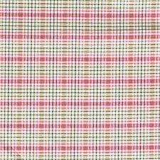 Pink/Green Plaid Decorator Fabric by Kravet