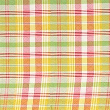Yellow/Burgundy/Red Plaid Decorator Fabric by Kravet