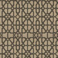 Pink Black Geometric Decorator Fabric by S. Harris