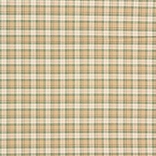 Beige/Green Plaid Decorator Fabric by Kravet