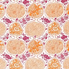 Tangerine/Berry Decorator Fabric by Schumacher