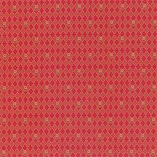 Burgundy/Red/Gold Diamond Decorator Fabric by Kravet