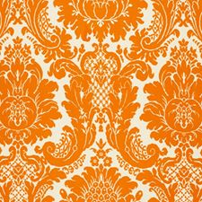 Tangerine Decorator Fabric by Schumacher