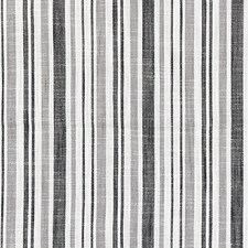 Charcoal CHATHAM STRIPES Decorator Fabric by Scalamandre