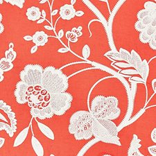 Coral Embroidery Decorator Fabric by Scalamandre