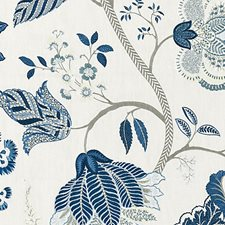 Porcelain Embroidery Decorator Fabric by Scalamandre