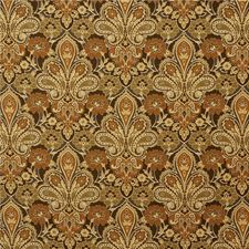 Brown/Yellow/Beige Damask Decorator Fabric by Kravet