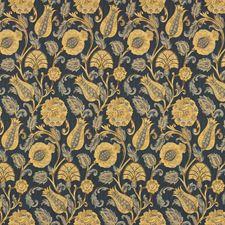 Indigo Botanical Decorator Fabric by Kravet