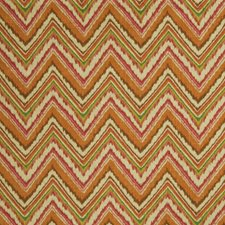 Persimmon Flamestitch Decorator Fabric by Fabricut