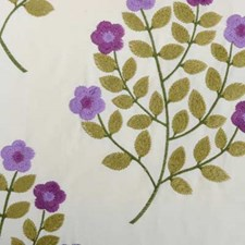 Purple/Sage Crewel Decorator Fabric by Highland Court
