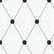 White/Black Diamond Decorator Fabric by Kravet