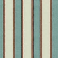 Turq Stripes Decorator Fabric by Kravet