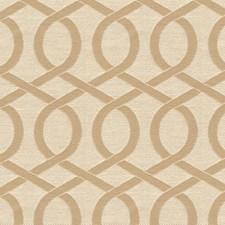 Beige/White Lattice Decorator Fabric by Kravet