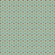 Light Blue/Burgundy/Red Small Scales Decorator Fabric by Kravet