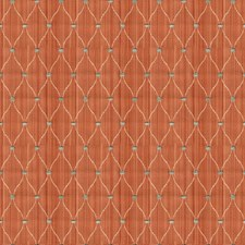 Orange/Blue/White Small Scales Decorator Fabric by Kravet