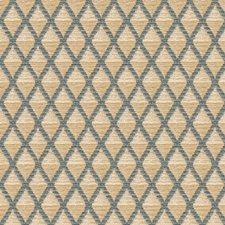 Beige/Blue Diamond Decorator Fabric by Kravet