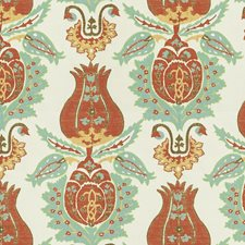Coral Capri Damask Decorator Fabric by Kravet