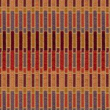 Orange/Purple/Burgundy Modern Decorator Fabric by Kravet
