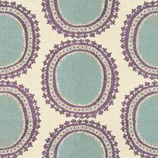Beige/Light Blue/Purple Contemporary Decorator Fabric by Kravet