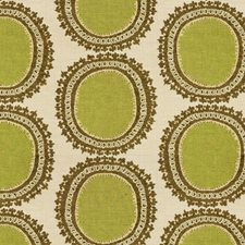 Beige/Brown/Green Modern Decorator Fabric by Kravet