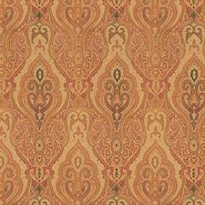 Beige/Burgundy/Red Damask Decorator Fabric by Kravet