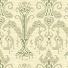 Beige/Light Green Ethnic Decorator Fabric by Kravet