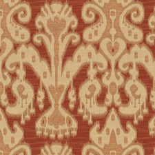 Yellow/Burgundy/Red Ethnic Decorator Fabric by Kravet
