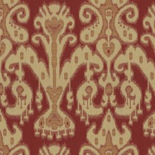 Burgundy/Red/Yellow Ethnic Decorator Fabric by Kravet