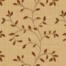 Beige/Burgundy/Red Botanical Decorator Fabric by Kravet