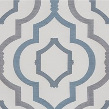 Blue Steel Lattice Decorator Fabric by Kravet