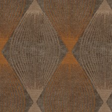 Brown/Orange/Beige Diamond Decorator Fabric by Kravet