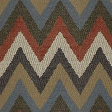Indigo Flamestitch Decorator Fabric by Kravet